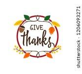 thanksgiving card  thanksgiving ...   Shutterstock .eps vector #1206093271