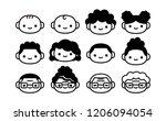 vector cartoon set of icons of... | Shutterstock .eps vector #1206094054