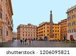 rome  italy 20.02.2018.... | Shutterstock . vector #1206095821