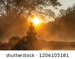 healthy lifestyle. silhouette... | Shutterstock . vector #1206105181