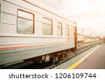 beautiful railway station with... | Shutterstock . vector #1206109744