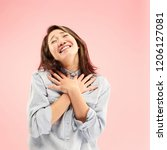 delight. beautiful female half... | Shutterstock . vector #1206127081
