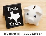 the rate of taxes in the state... | Shutterstock . vector #1206129667
