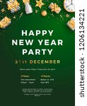 happy new year party layout... | Shutterstock .eps vector #1206134221