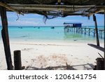 the mantanani islands form a... | Shutterstock . vector #1206141754