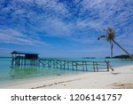 the mantanani islands form a... | Shutterstock . vector #1206141757