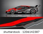 sport car racing wrap livery... | Shutterstock .eps vector #1206142387