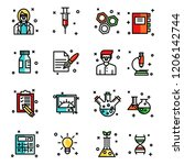 lab icons set | Shutterstock .eps vector #1206142744