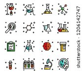 lab icons set | Shutterstock .eps vector #1206142747
