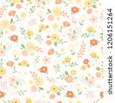 cute floral seamless background.... | Shutterstock .eps vector #1206151264