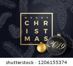 merry christmas abstract vector ... | Shutterstock .eps vector #1206155374
