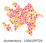 collage map of azerbaijan... | Shutterstock .eps vector #1206159724