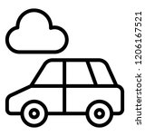 a simple luxury sedan car | Shutterstock .eps vector #1206167521