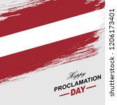proclamation day of the... | Shutterstock .eps vector #1206173401