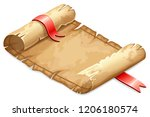 royal parchment decorated satin ... | Shutterstock .eps vector #1206180574