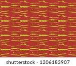japanese kimono vector seamless ... | Shutterstock .eps vector #1206183907
