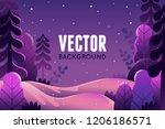 vector illustration in trendy... | Shutterstock .eps vector #1206186571