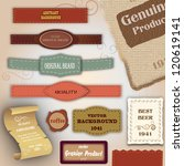 set of retro ribbons  dirty... | Shutterstock .eps vector #120619141