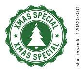 xmas special vector badge   Shutterstock .eps vector #1206207001