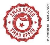 xmas offer vector badge   aged   Shutterstock .eps vector #1206207004
