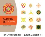 pattern icon set. hexagon... | Shutterstock .eps vector #1206230854