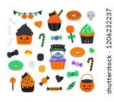halloween candy vector hand... | Shutterstock .eps vector #1206232237