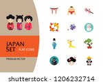 japan icon set. japanese kite... | Shutterstock .eps vector #1206232714