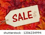 fall sale message  some fall... | Shutterstock . vector #1206234994