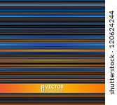 Abstract Retro Stripes Colorfu...
