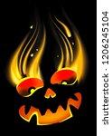 background for halloween...   Shutterstock . vector #1206245104