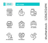 line icons about pet store | Shutterstock .eps vector #1206252694