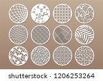 set round template for cutting. ... | Shutterstock .eps vector #1206253264