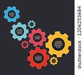 cogwheel template on a dark... | Shutterstock .eps vector #1206253684