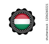 hungary flag button. made in...   Shutterstock .eps vector #1206260221