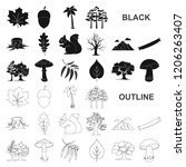 forest and nature black icons... | Shutterstock .eps vector #1206263407
