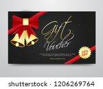 promotional gift voucher or...   Shutterstock .eps vector #1206269764