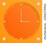 clock illustration with... | Shutterstock .eps vector #1206270961