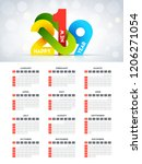 year planner 2019 or wall... | Shutterstock .eps vector #1206271054