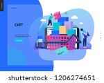 business series  color 2  cart  ... | Shutterstock .eps vector #1206274651