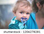 little cute boy with a baby...   Shutterstock . vector #1206278281