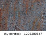 texture of rusty iron  cracked... | Shutterstock . vector #1206280867