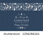 christmas background with... | Shutterstock .eps vector #1206286261