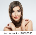 beautiful young woman portrait... | Shutterstock . vector #120630535
