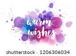 warm wishes decorative... | Shutterstock .eps vector #1206306034