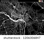 simple map of richmond ... | Shutterstock .eps vector #1206306847