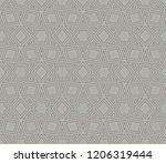 vector geometric seamless... | Shutterstock .eps vector #1206319444