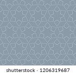 vector geometric seamless... | Shutterstock .eps vector #1206319687