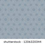 vector geometric seamless... | Shutterstock .eps vector #1206320344
