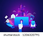 concept of marketing techniques.... | Shutterstock .eps vector #1206320791