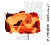 orange brush stroke and texture.... | Shutterstock .eps vector #1206326194